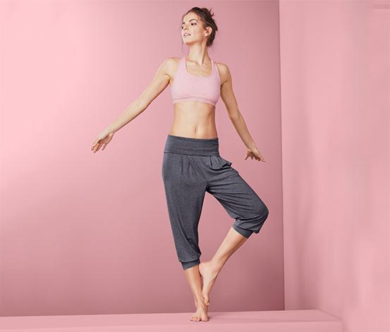 Trojštvrťové nohavice na jogu s pásom na ohrnutie
