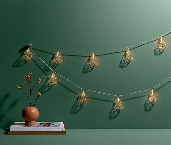 Lampki dekoracyjne LED w kształcie diamentów