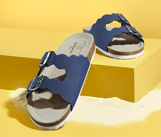 Pohodlné sandále s vlnitým okrajom