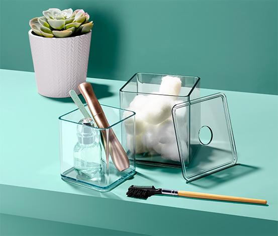 2 Kosmetik-Organizer-Boxen