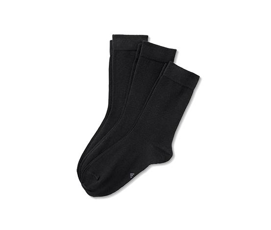 Czarne skarpety z bawełną ekologiczną, 3 pary