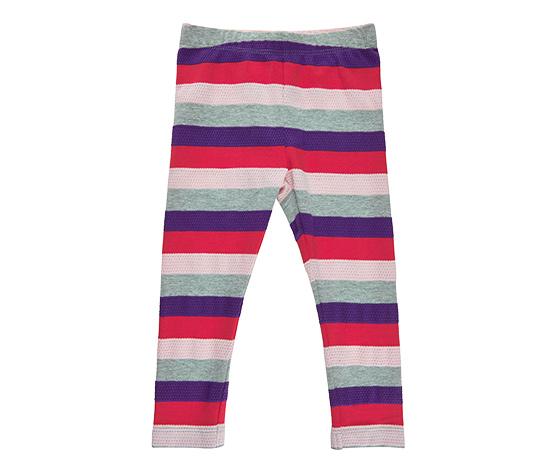 Dziewczęce legginsy w kolorowe paski