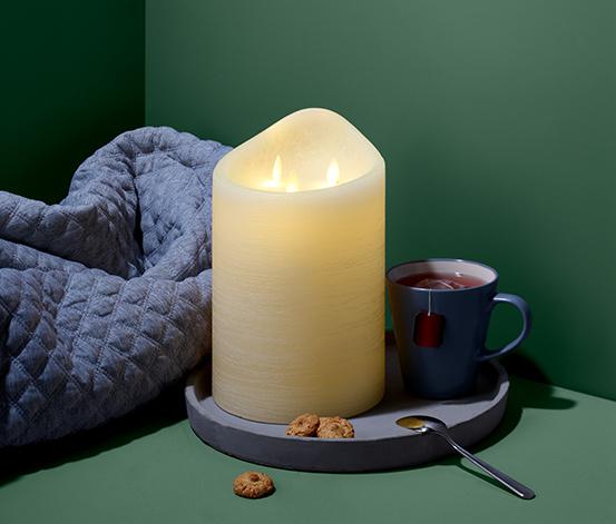 Svíčka z pravého vosku s LED