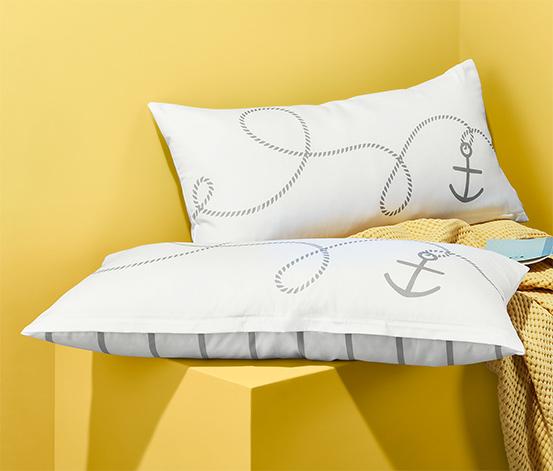 Dwustronne poszewki na poduszki z mikrowłókna, 2 sztuki