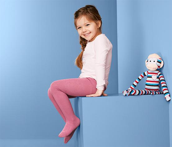 Rajstopy dziecięce w jednolitych kolorach, 3 pary