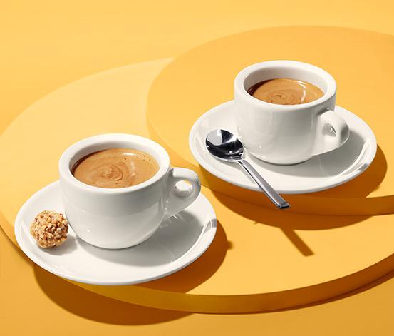 Filiżanki do espresso ze spodkami, 2 sztuki