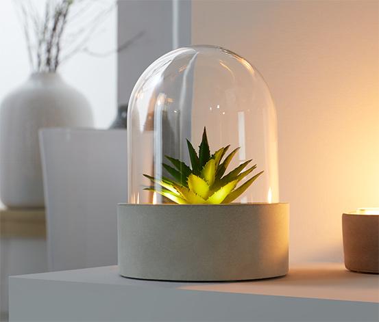 Dekoračné svietidlo s LED v tvare sukulentu