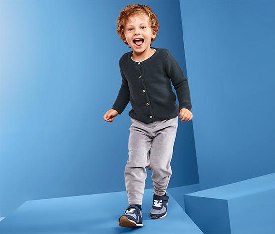 Pletený sveter, modrý