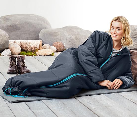 Kabát s funkcí spacího pytle