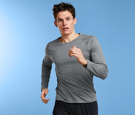 Męska bluza funkcyjna z długim rękawem