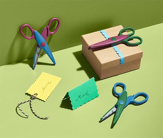 Nożyczki konturowe dla dzieci, 3 pary