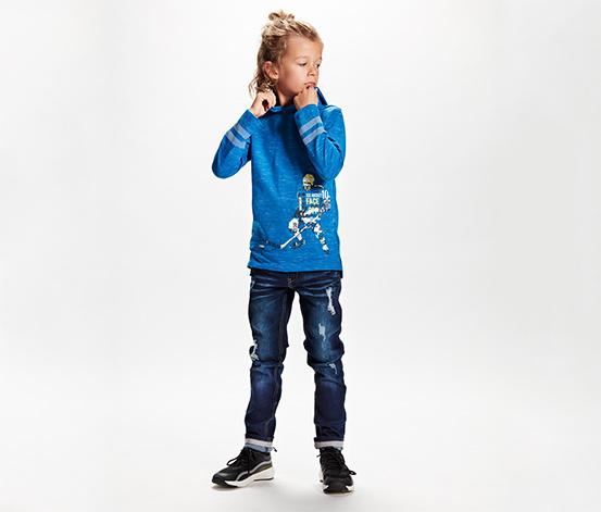 Chłopięca bluza z kapturem z nadrukiem hokeisty