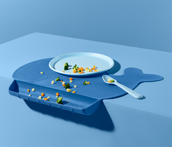 Set de table en silicone pour bébé «baleine»