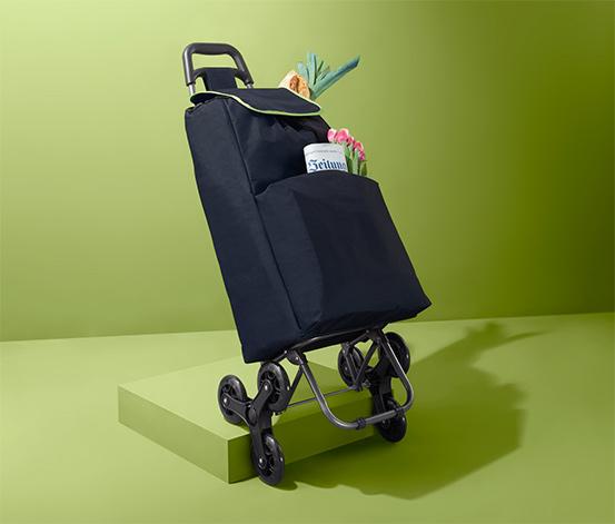 Wózek transportowy z torbą na zakupy, na 6 kółkach