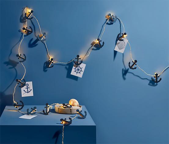 Svetelná reťaz s LED »Štipec s kotvou«