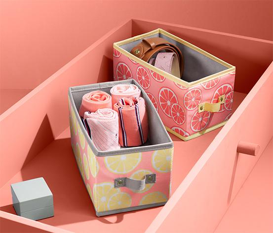 Úložné boxy do zásuviek, 2 ks, stredne veľké