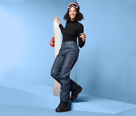 Női sí- és snowboardnadrág, kék