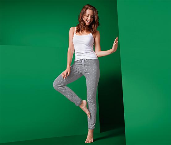 Pohodlné žerzejové kalhoty