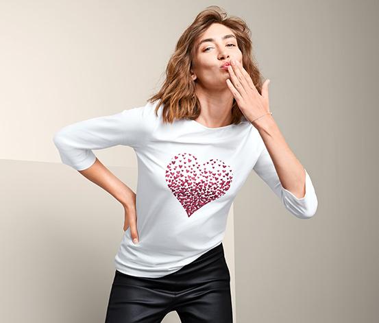 Shirt mit platziertem Print