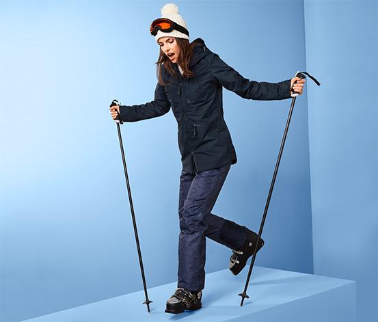 Női sí- és snowboardkabát, sötétkék