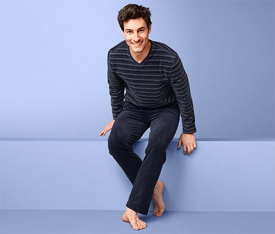 Piżama męska z weluru z bawełną ekologiczną