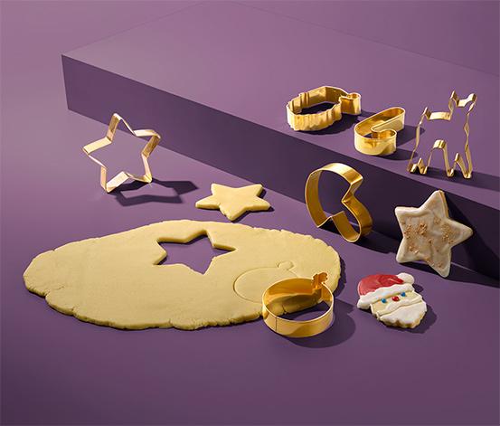 6 karácsonyi kekszkiszúró szettben