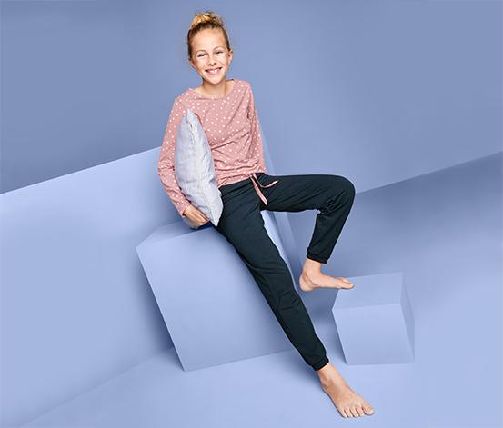 Lány pizsama, rózsaszín/sötétkék