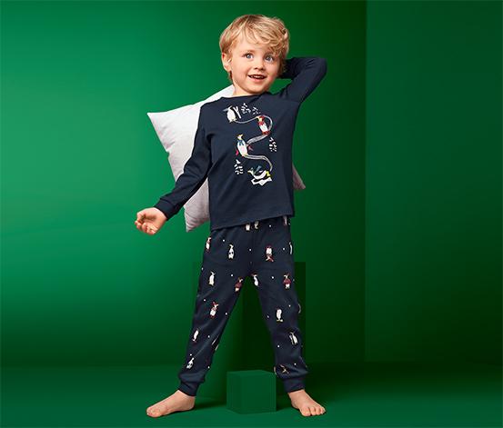 Dwuczęściowa piżama dziecięca z dzianiny interlock