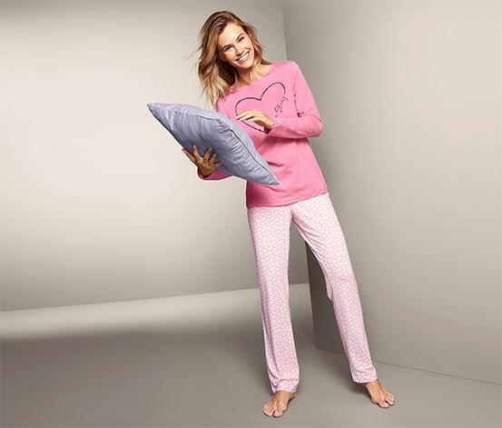 Pembe Organik Pamuklu Pijama Takımı