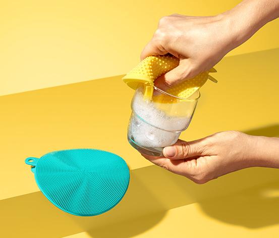 Antybakteryjne gąbki silikonowe, 2 sztuki