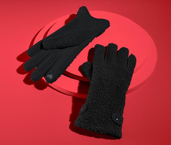Handschuhe in Boucléoptik
