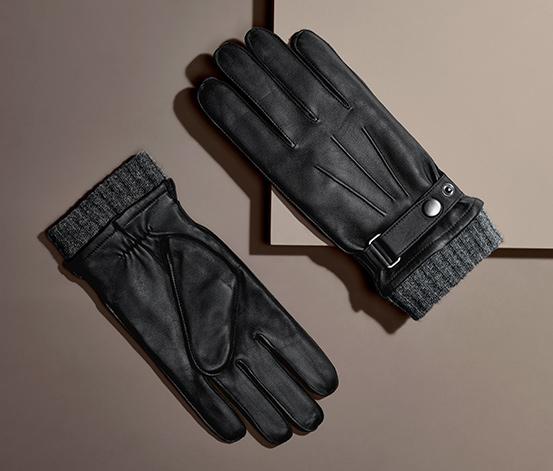 Skórzane rękawice męskie
