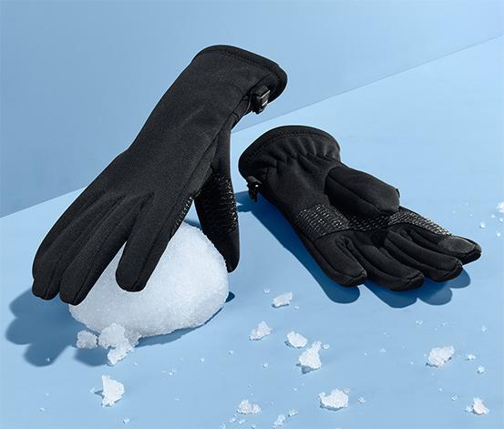 Siyah Softshell eldiven