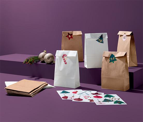 Súprava darčekových vrecúšok na adventný kalendár