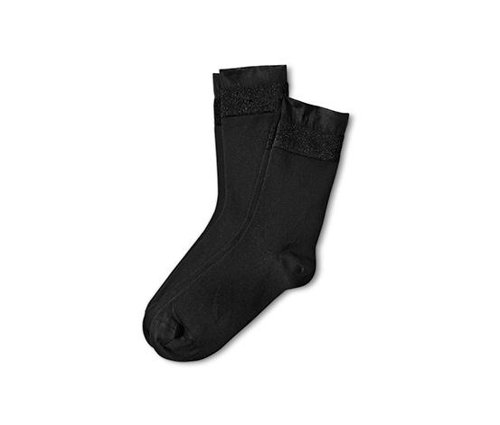 Ponožky s ozdobným lemom, 2 páry
