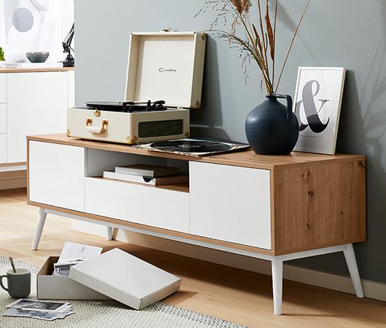 TV-s szekrény, tölgy bútorlap