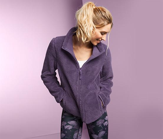 Dwustronna damska bluza z mikropolaru i pluszu