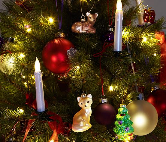 6 LED-Weihnachtsbaumkugeln
