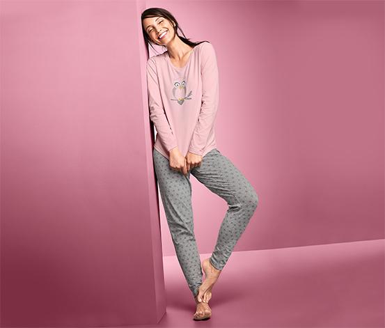 Piżama z motywem sowy z zawartością bawełny