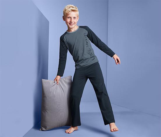 Fiú pizsama, csíkos, sötétkék