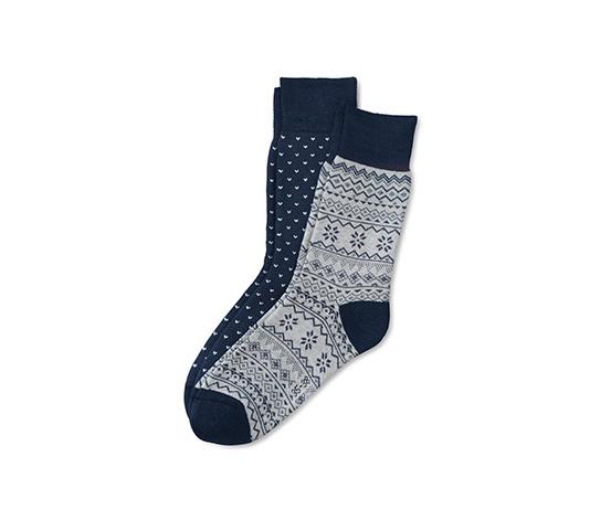 Desenli Termal Çorap
