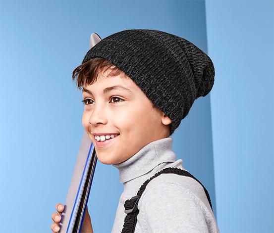 Chłopięca czapka z polarowym ociepleniem