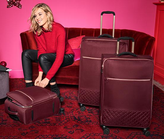 Textilní kufr, malý
