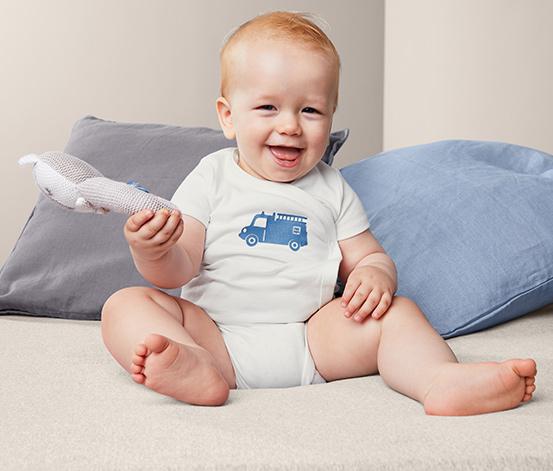 Body niemowlęce z krótkim rękawem, 3 sztuki