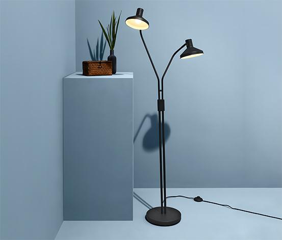 Stående lampa med 2 armar