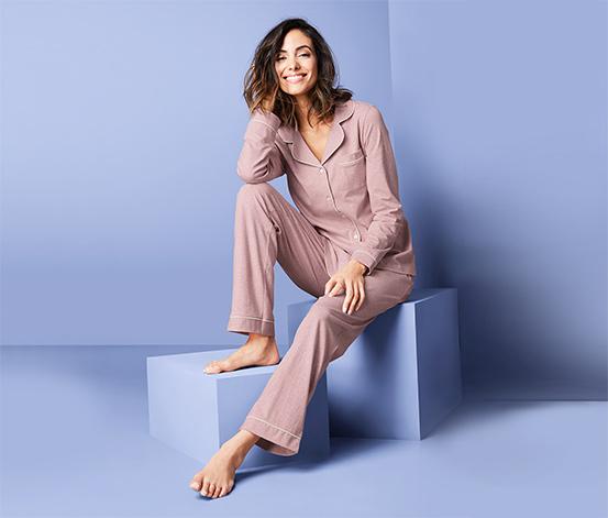 Pyjama avec patte de boutonnage