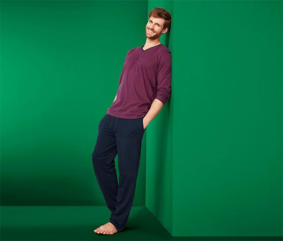 Férfi pizsama, csíkos