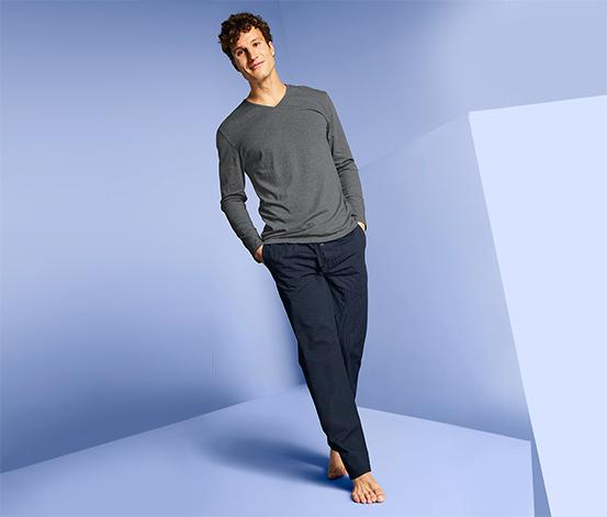 Férfi pizsama, szürke
