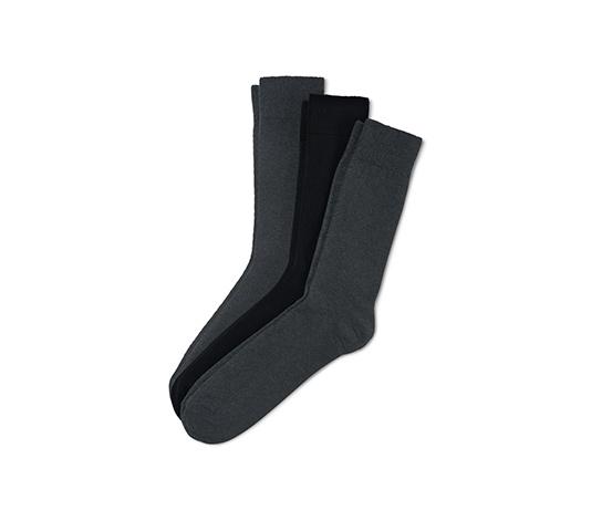 3 pár férfi zokni szettben, sötétszürke/fekete