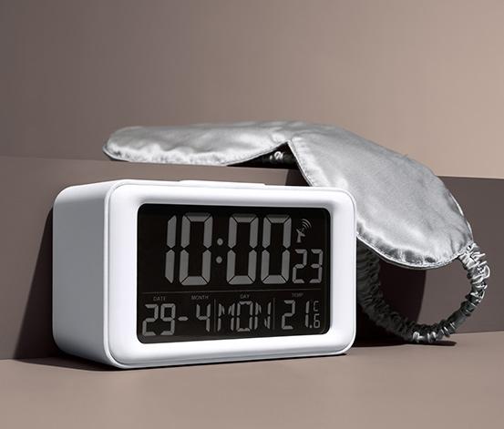Cyfrowy budzik radiowy LCD